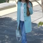 cappotto azzurro benetton