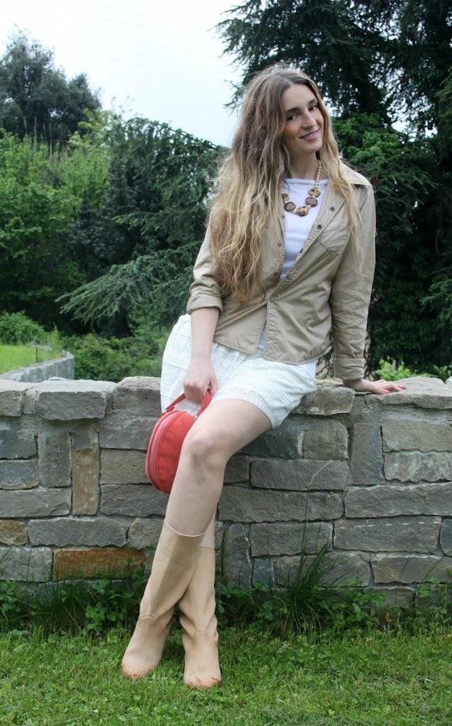 stivali pelle beige