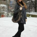 Sammydress grey cap in white snow :)