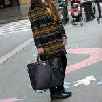 blue checked zara coat
