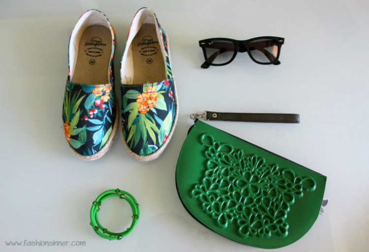 espadrillas - Miss Hamptons / sunnies - Ray Ban/ clutch - MeDusa
