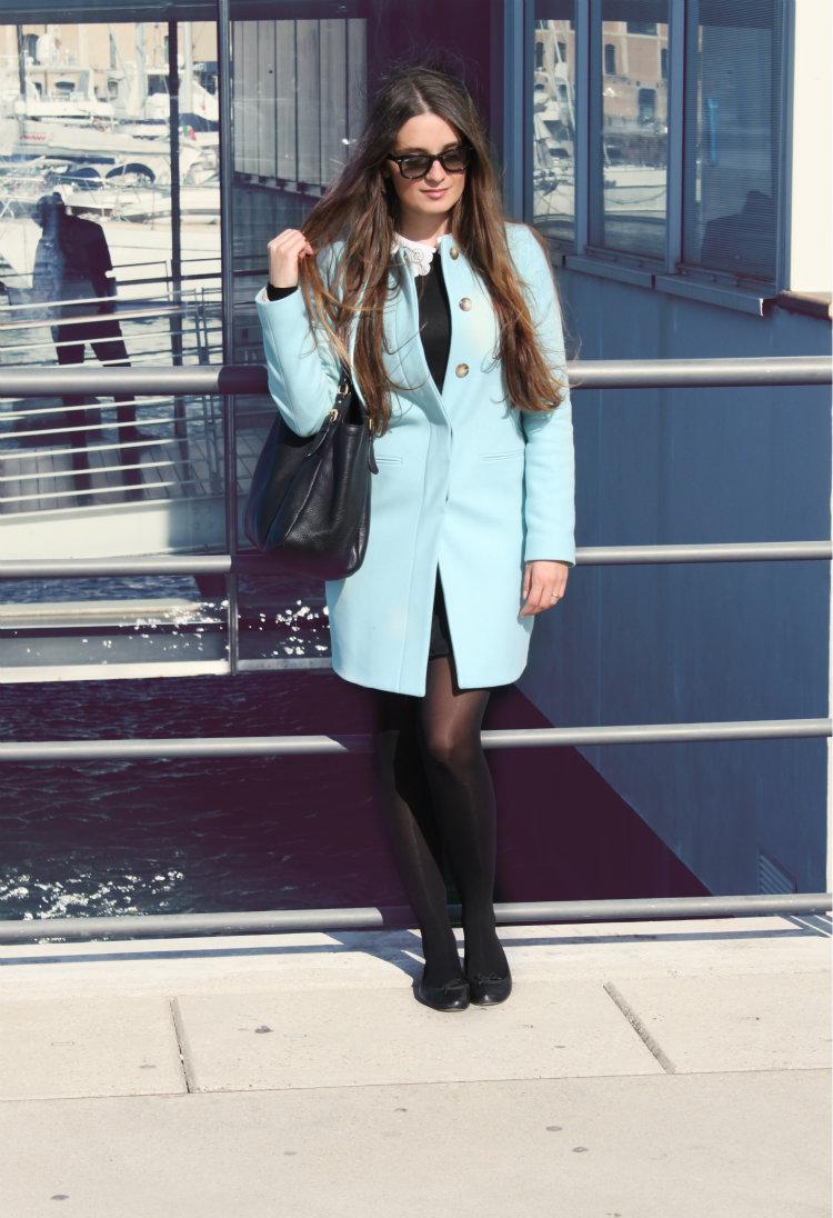 cappotto azzurro benetton 6