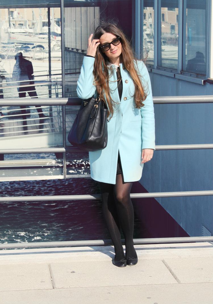 cappotto azzurro benetton 8