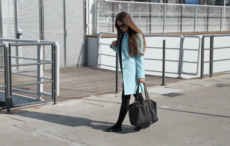 cappotto azzurro nuova