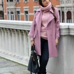 cappotto rosa oversize