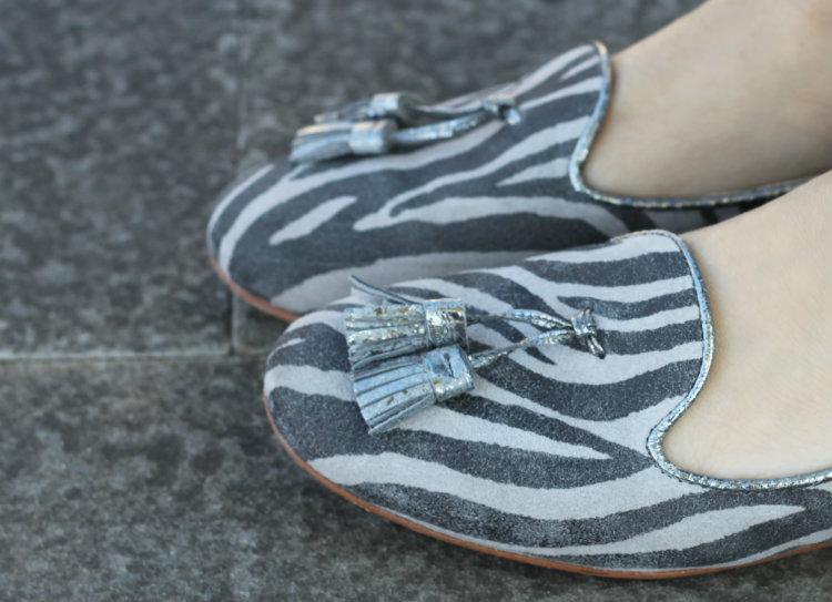 scarpe zebrate